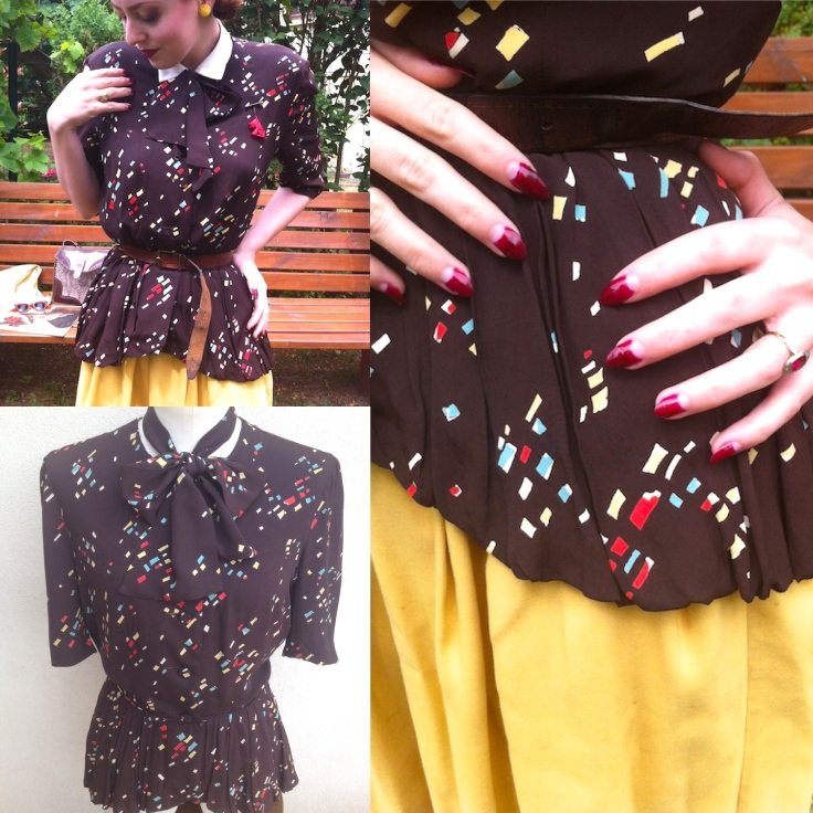 Blouse atomic 40s