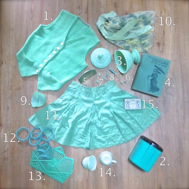 Monochrome vert d'eau 1