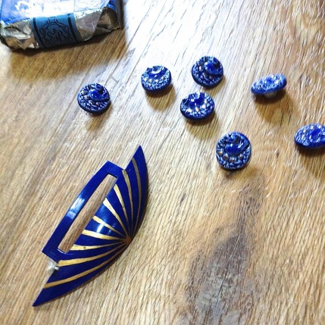 Monochrome vintage bleu 13