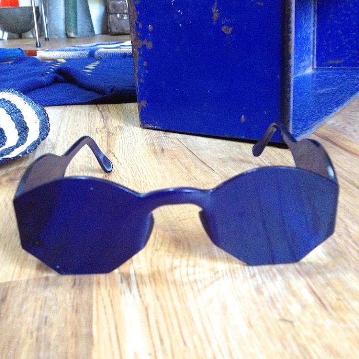 Monochrome vintage bleu 17