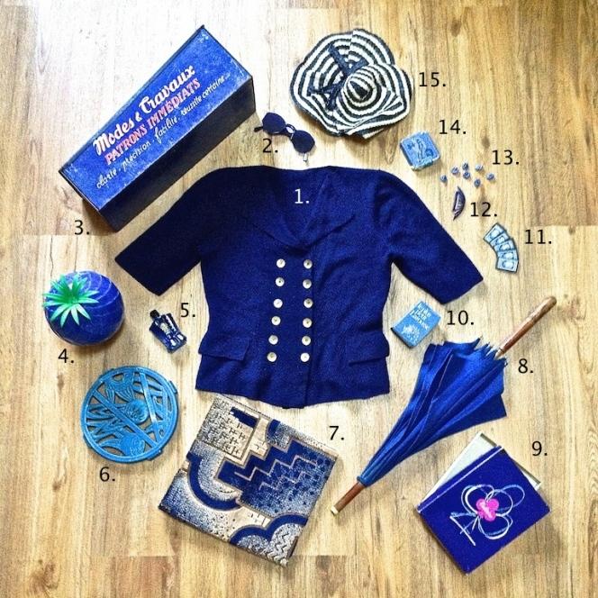Monochrome vintage bleu 2