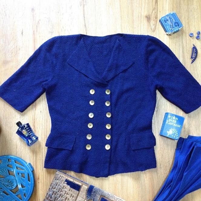 Monochrome vintage bleu 3