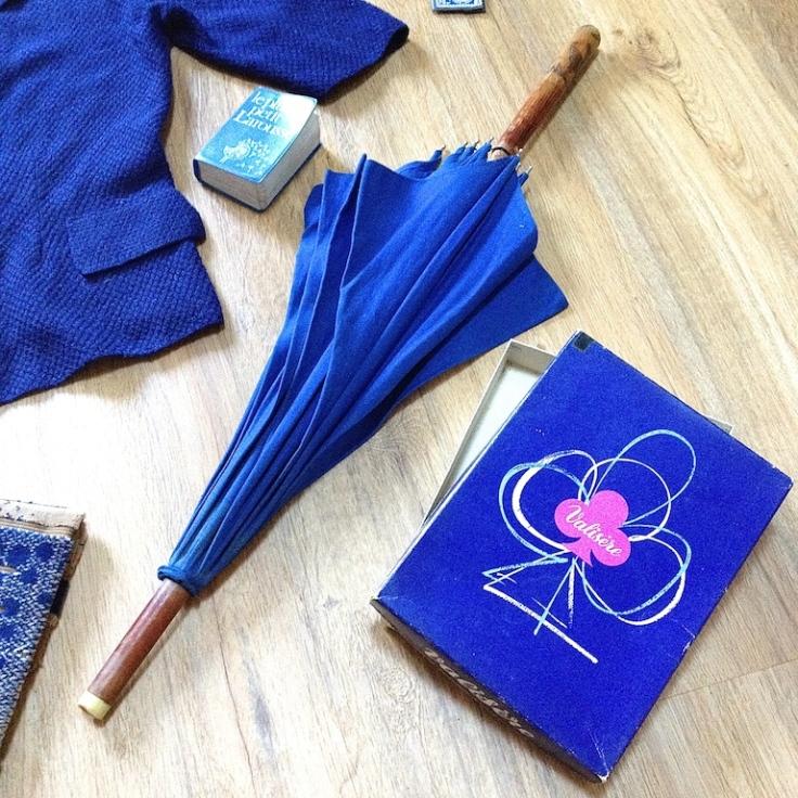 Monochrome vintage bleu 5