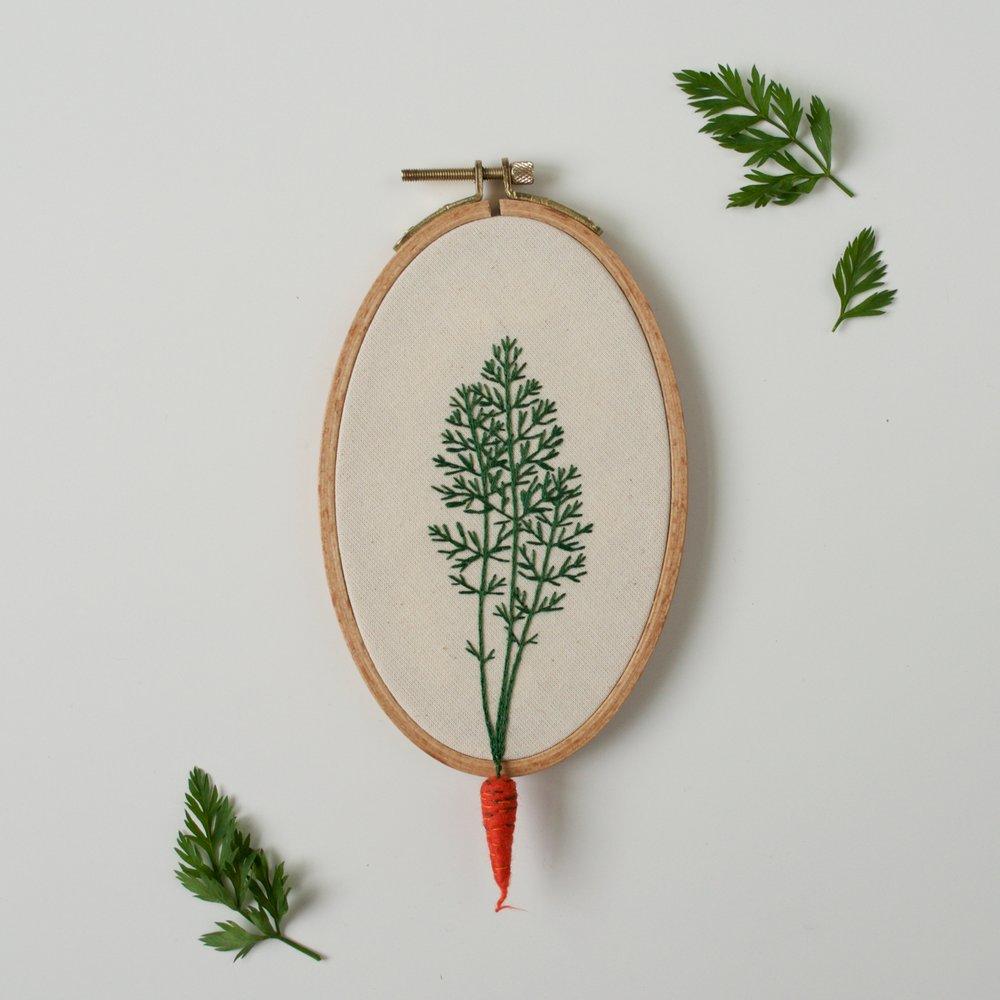carotte brodée
