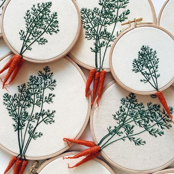 Carottes broderie