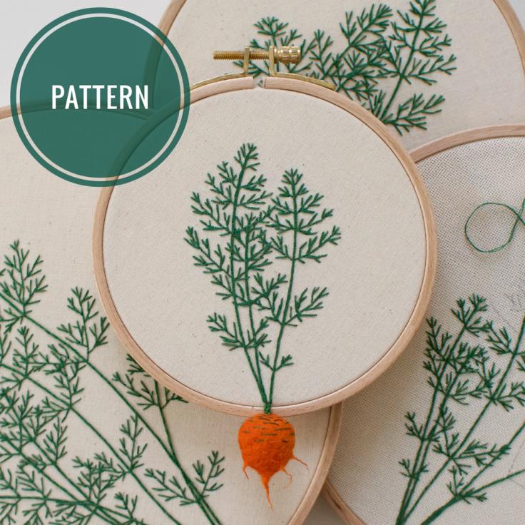 pattern broderie légume