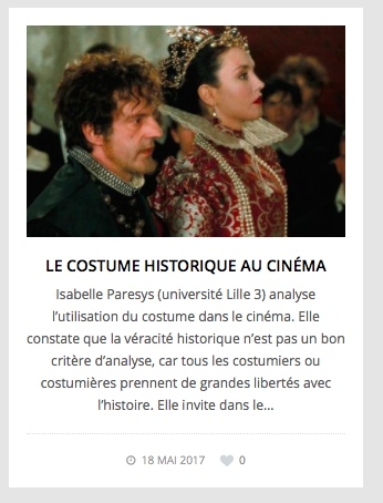 Costume et cinema