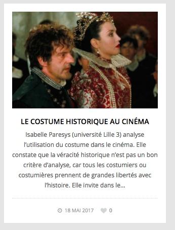 Costume et cinema