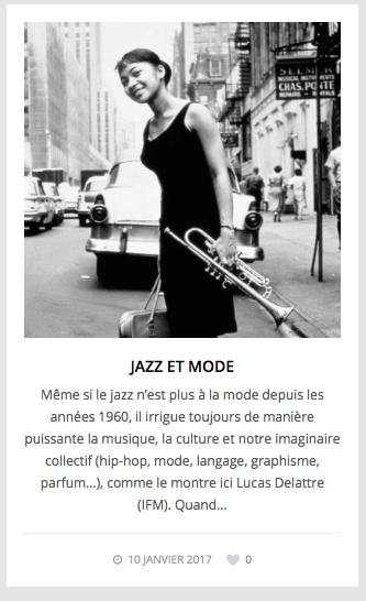 Jazz et mode