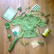 Monochrome vintage vert 1