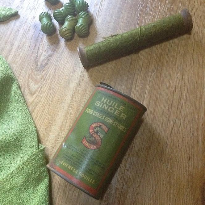 Monochrome vintage vert 15