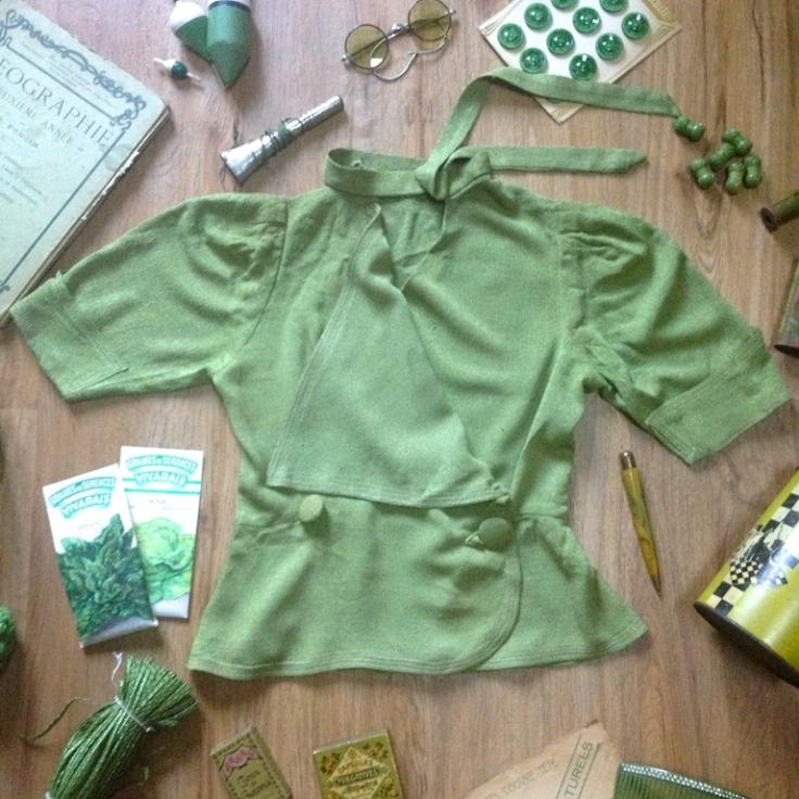 Monochrome vintage vert 2