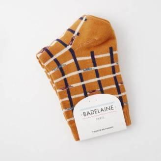 chaussette-carreaux-ocre