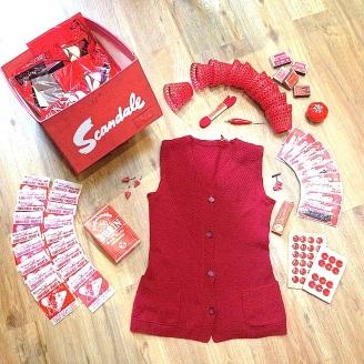 Monochrome vintage rouge 25