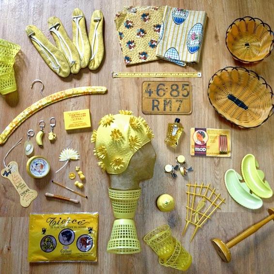 Monochrome vintage jaune 1