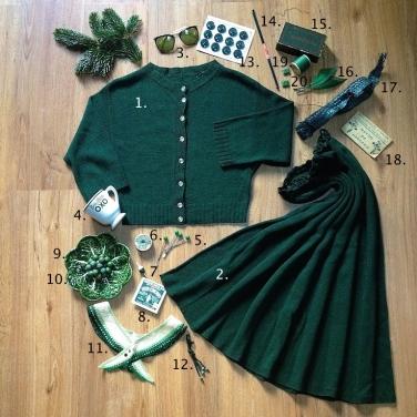 Monochrome vintage vert sapin 2